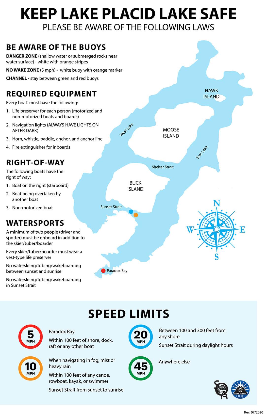 Lake Placid - Map of Lake